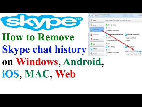 How To Remove Skype Chat History On Windows, Android, IOS, Mac, Web, Windows 10