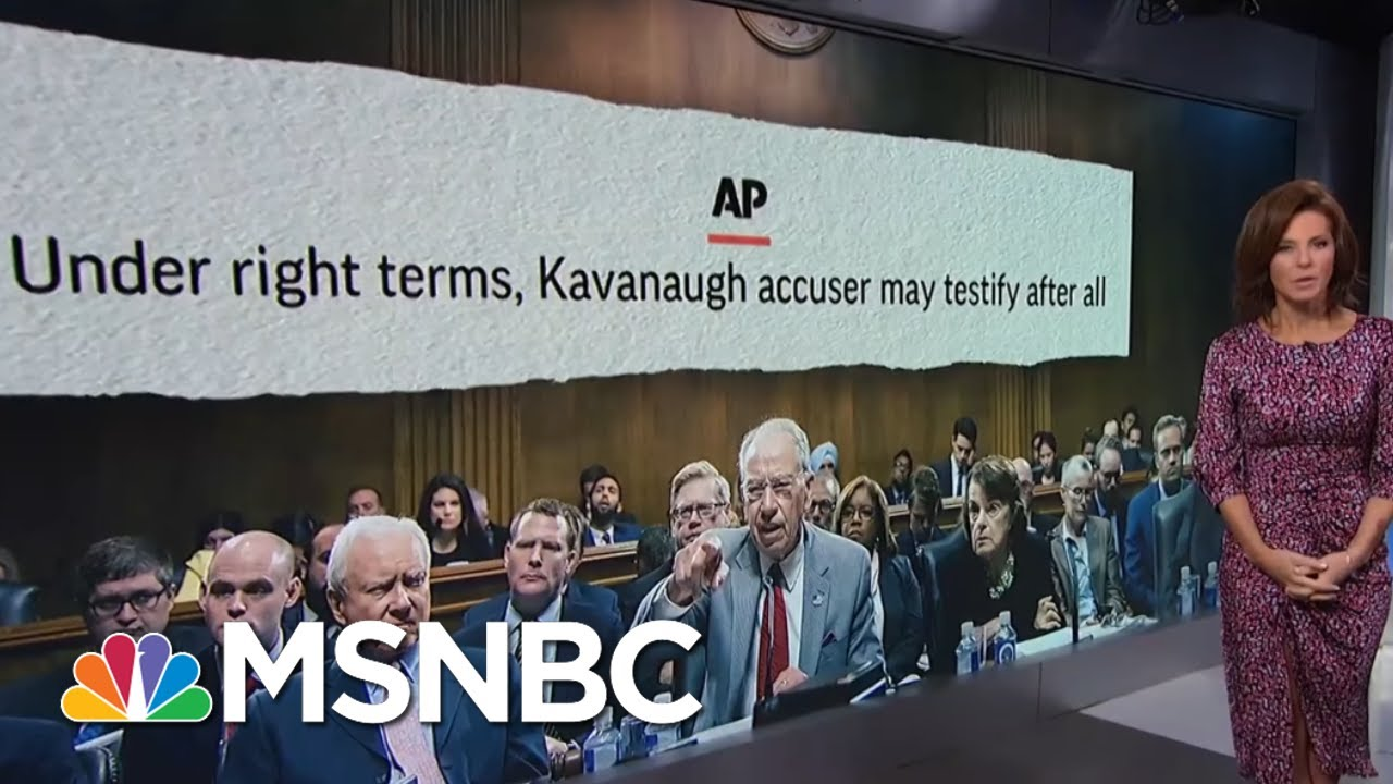Christine Ford Open To Testifying Next Week, Under Certain Conditions | Velshi & Ruhle | MSNBC