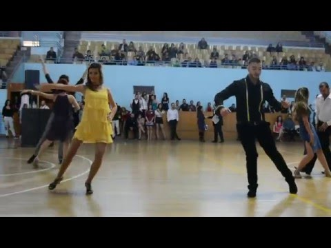 Syria Dance Competition 2015 - Salsa Intermediate - Mohammad & Nour - Salsa Spark Dance Academy