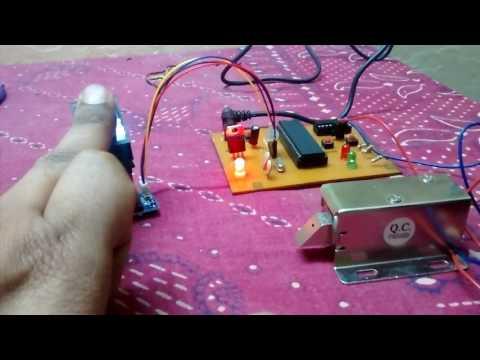 Finger; fingerprint; R305 fingerprint sensor; 8051 fingerprint security system; solenoid lock