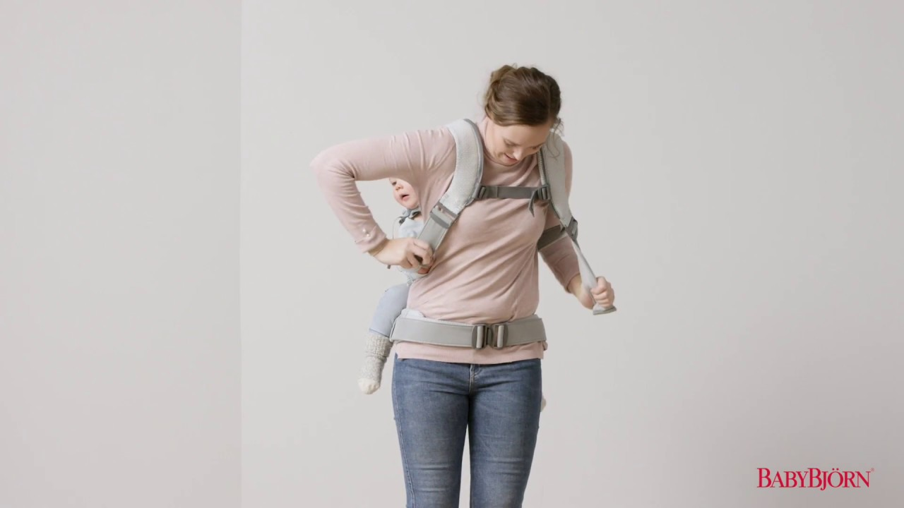 Babybjorn How To Place Your Child On Your Back In Baby Carrier One