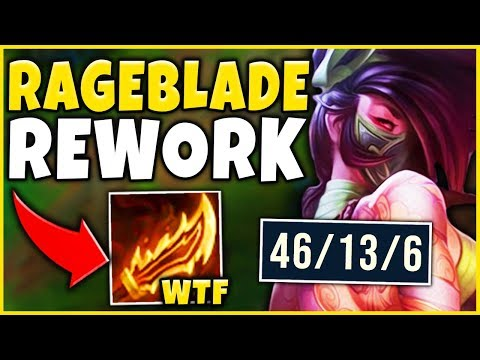 *NEW BUILD* RIOT DID NOT EXPECT THIS RAGEBLADE BROKE AKALI - League of Legends