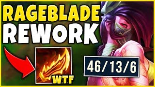 NEW BUILD RIOT DID NOT EXPECT THIS RAGEBLADE BROKE AKALI League of Legends