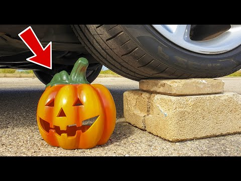 Crushing Crunchy & Soft Things by Car! - EXPERIMENT: PUMPKIN VS CAR