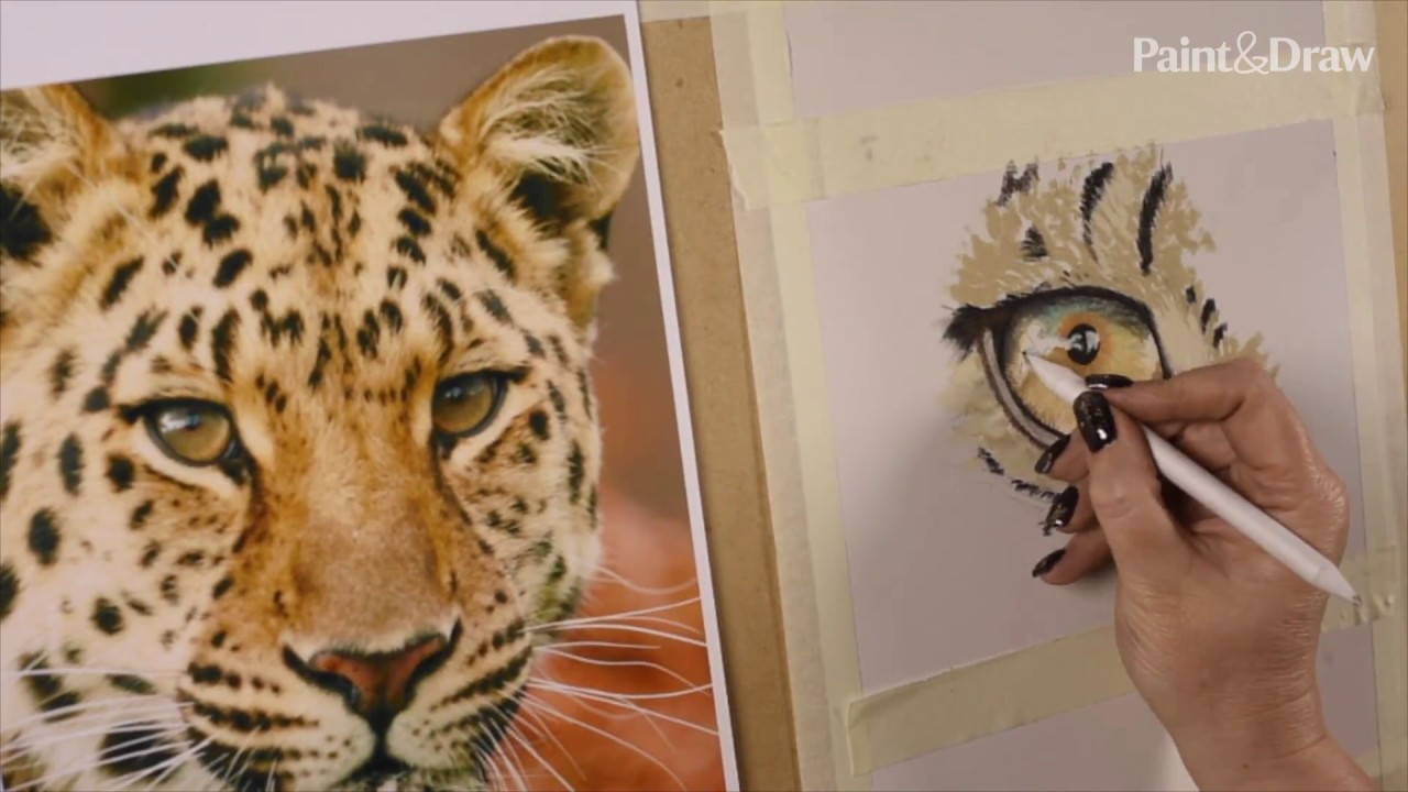 How to paint a cat's eye - YouTube