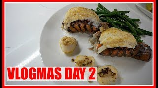 VLOGMAS  DAY 2  -  PRODUCTIVE NIGHT ROUTINE -  Cooking  Lobster & Skin Care   | Brittany Daniel