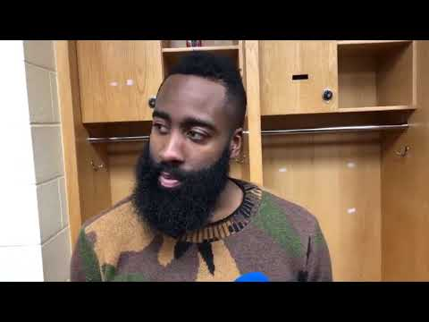 James Harden Postgame Interview / Rockets vs Thunder