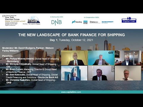 2021 13th Annual New York Maritime Forum - The New Landscape of Bank Finance For Shipping