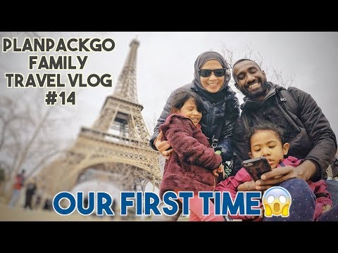PLANPACKGO FAMILY TRAVEL VLOG #14 - Our first time in Paris, France