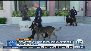 Department Honors Police K9 Officers