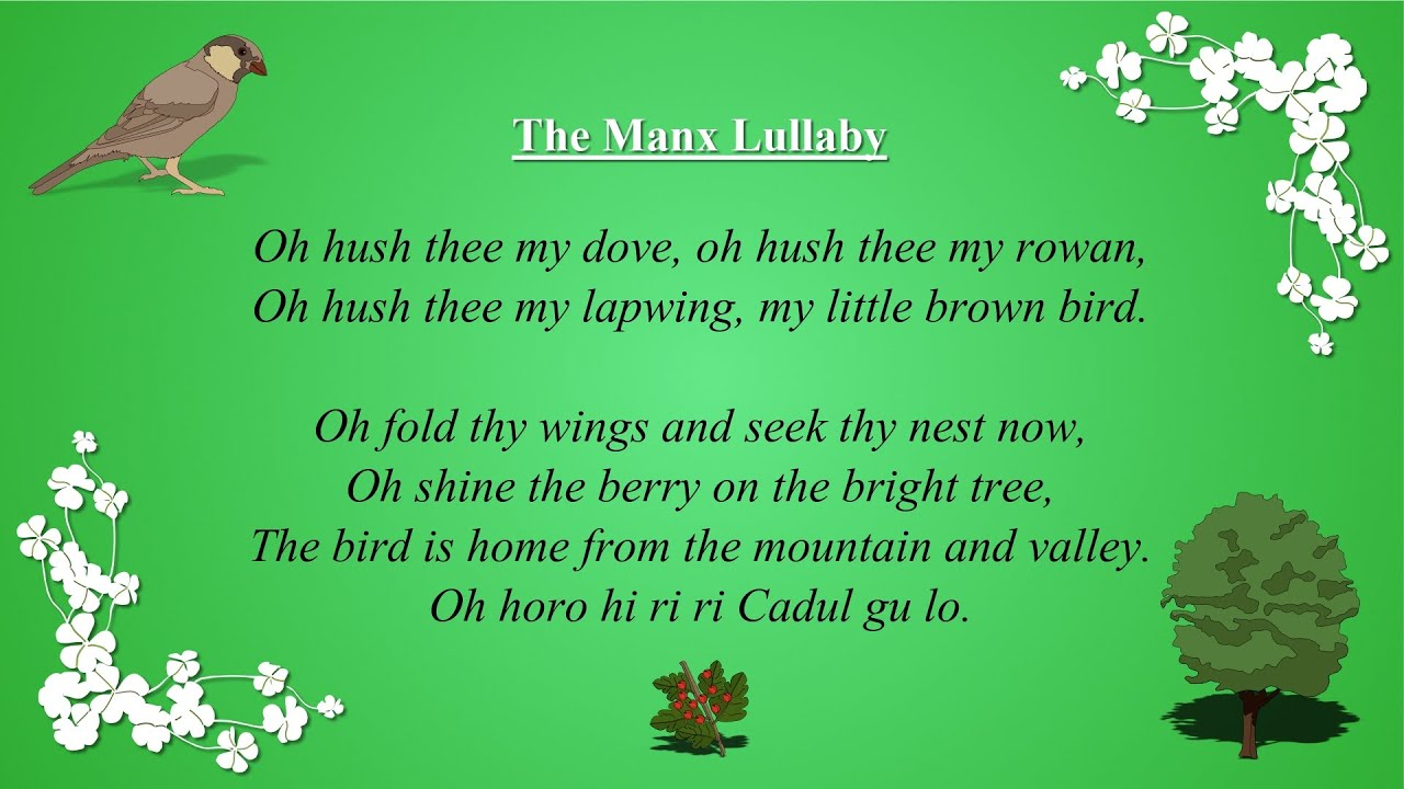The Manx Lullaby Baby Song For Sleeping With Lyrics