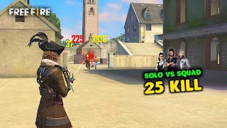 Attack with M14 Solo vs Squad Free Fire OverPower Gameplay - Garena Free Fire