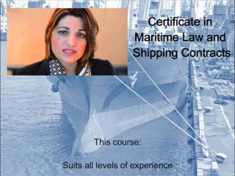 Maritime Law and Shipping Contracts distance learning course