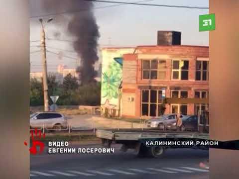 Садовый дом вспыхнул в Калининском районе Челябинска