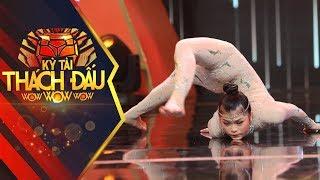 Đỉnh cao cô gái tỳ cằm xuống sàn dùng chân chạy quanh người, vượt kỷ lục thế giới | Kỳ Tài Thách Đấu