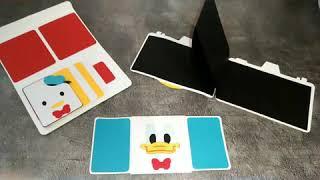 【巧克兔手工卡片】 唐老鴨 手工卡片 造型機關  機關卡片 生日卡片 畢業紀念卡片 聖誕卡片 情人節卡片 求婚卡片 新年卡片 婚禮小物 週年紀念卡片 母親節卡片 教師節卡片 感謝卡片 友情卡片