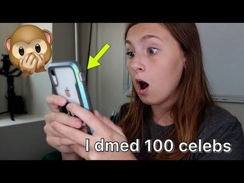 I dmed 100 celebrities - this is what happened!