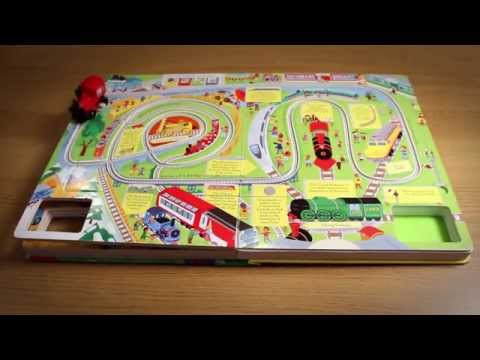The Usborne Wind - up Train Book with Slot-together Tracks - in action!