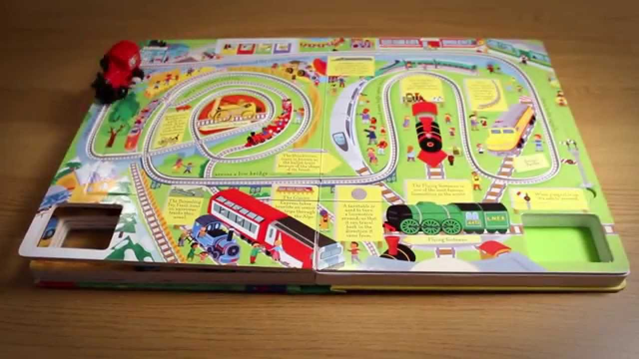 Toy Train Tracks : The usborne wind up train book with slot together tracks