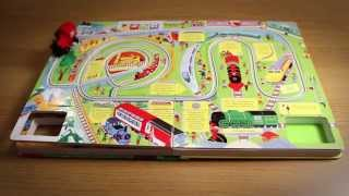 The Usborne Wind-up Train Book with Slot-together Tracks - in action!