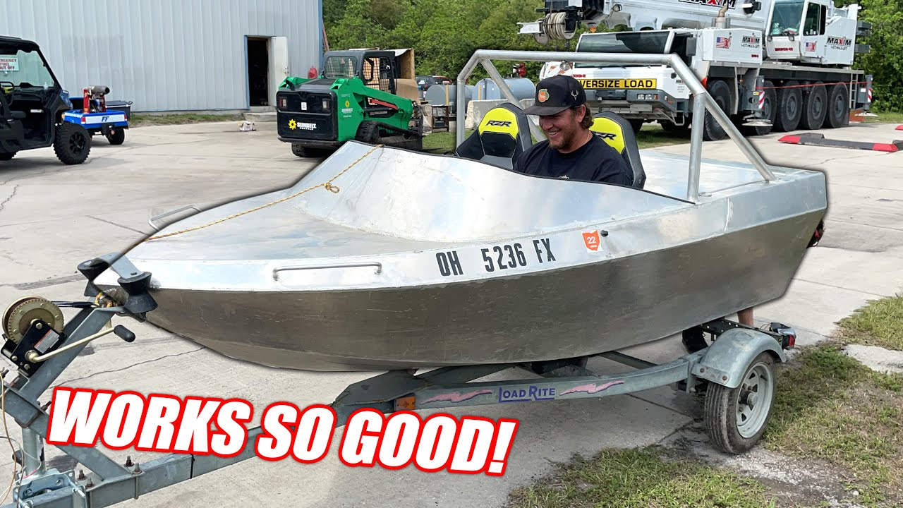 We Bought a CHEAP Mini Jet Boat Online and It Freaking RIPS!!! (First Water Test)