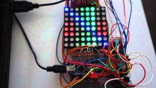 tricolor led matrix 4 bit pwm with arduino nano v3 library demo 160us per line