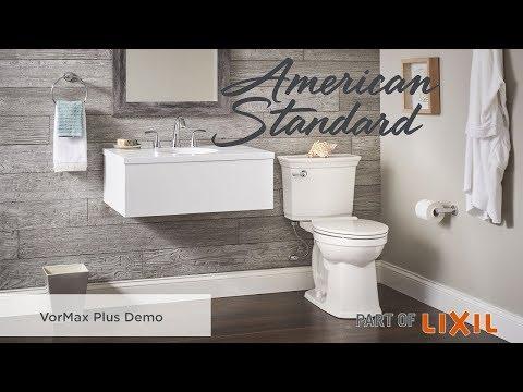 Introducing The VorMax Plus Self-Cleaning Toilet - American Standard