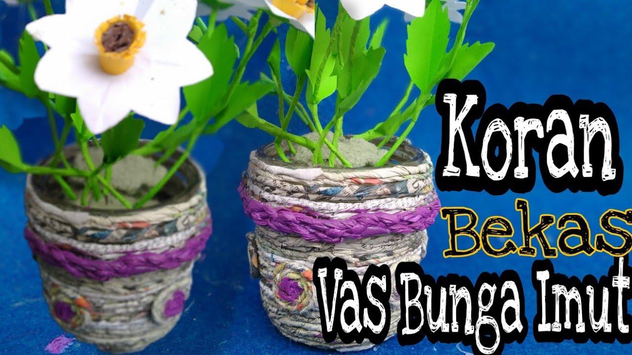 """Kerajinan Tangan Daur Ulang """" Vas / Pot Bunga Imut """" dari ..."""