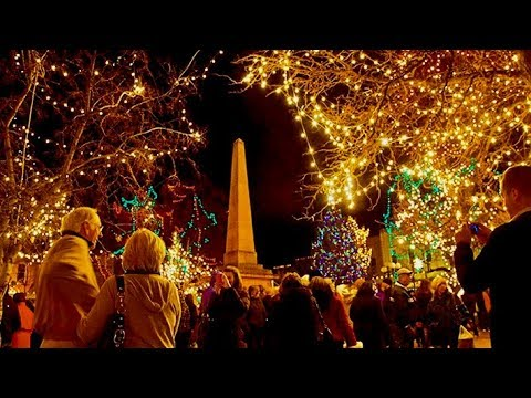 Christmas Lighting Ceremony At The Santa Fe Plaza New Mexico Youtube