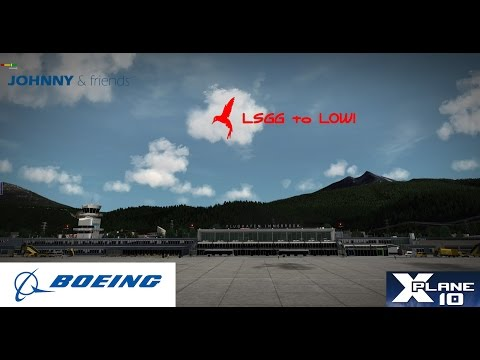 XPlane 10.50r3 IXEG_737_Classic_1.0 X Aviation Geneva - Innsbruck JUSTSIM (1080p60 HD)