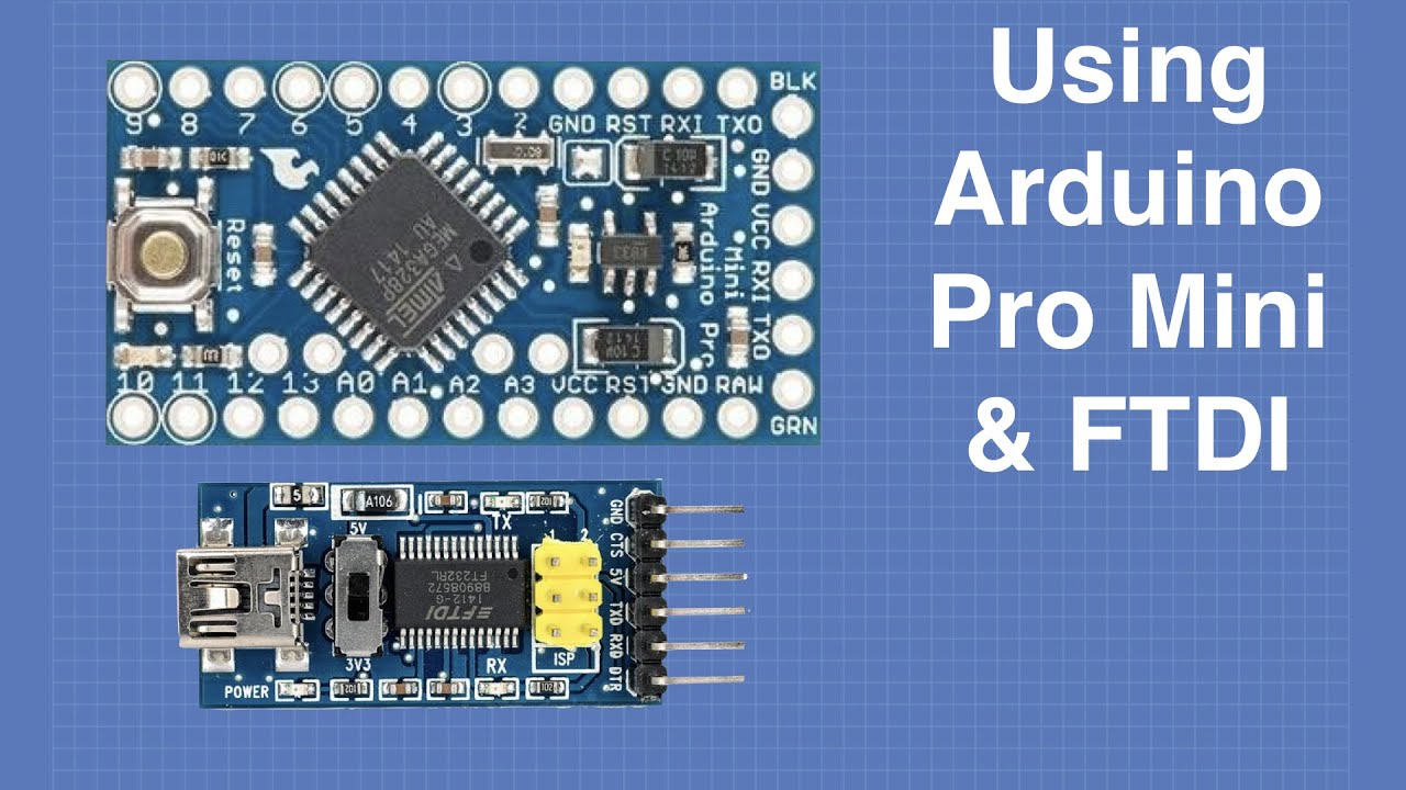 Using the Arduino Pro Mini & FTDI