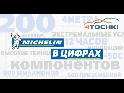 Шины Michelin в цифрах на 4 точки.
