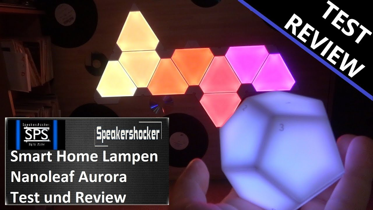 nanoleaf smart home lampe aurora led leucht panels review. Black Bedroom Furniture Sets. Home Design Ideas