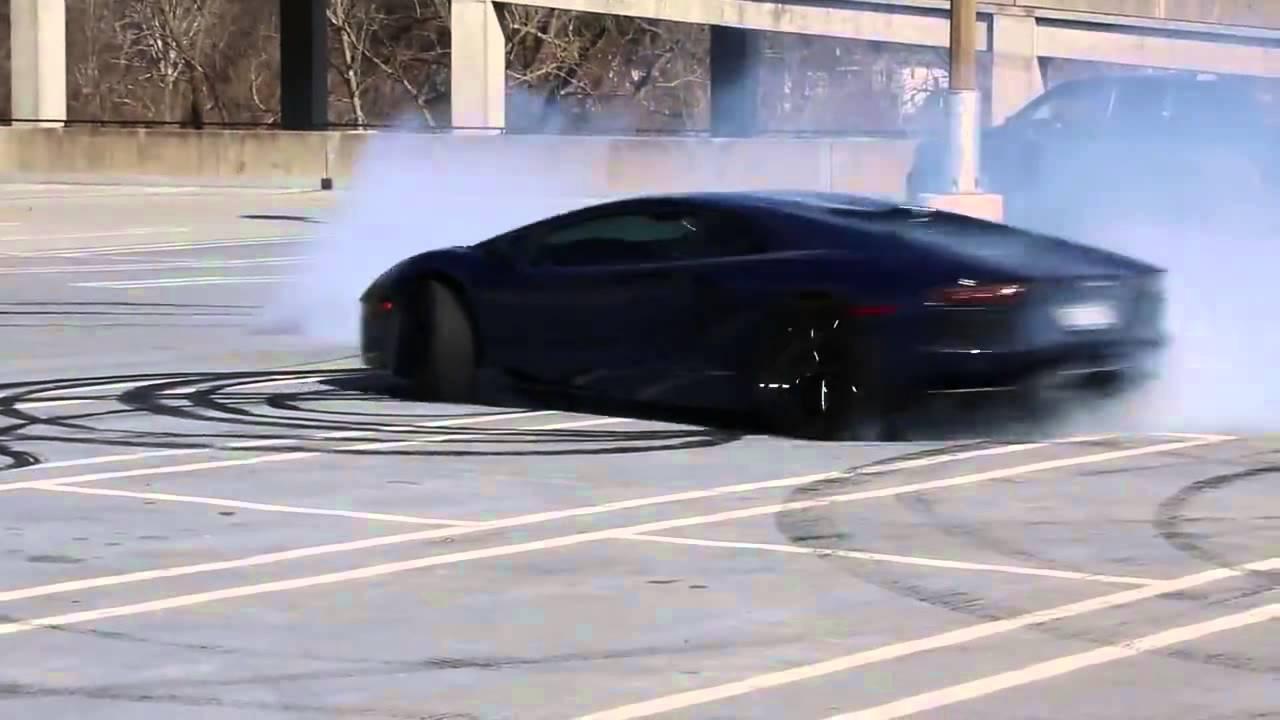 Street Drifting Lamborghini Aventador Amazing Drift Youtube