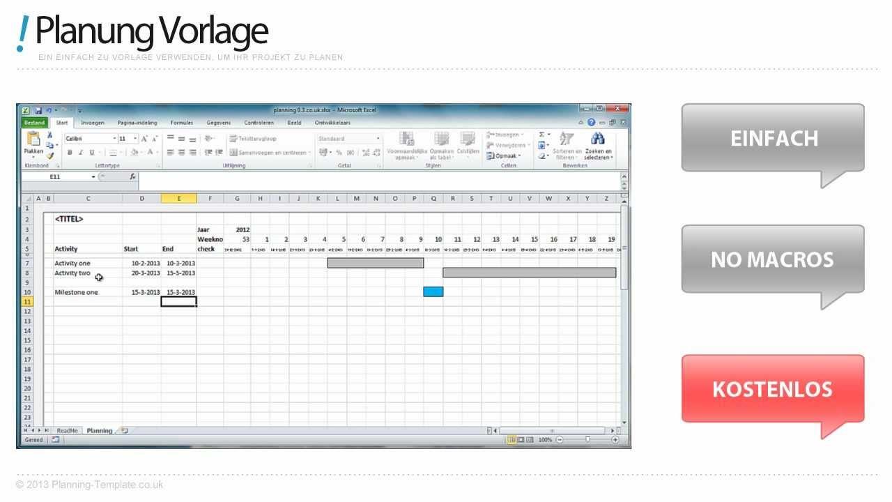 Zeitplan Vorlage Excel (Kostenlos Downloaden) - YouTube