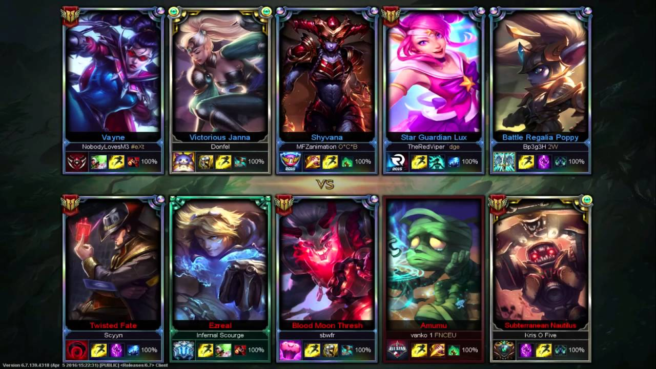 League of Legends 5v5 Tournament 10.04.2016 3rd AND 4th PLACEMENTS 3/3  WhoHatesRedScreen vs kartinka