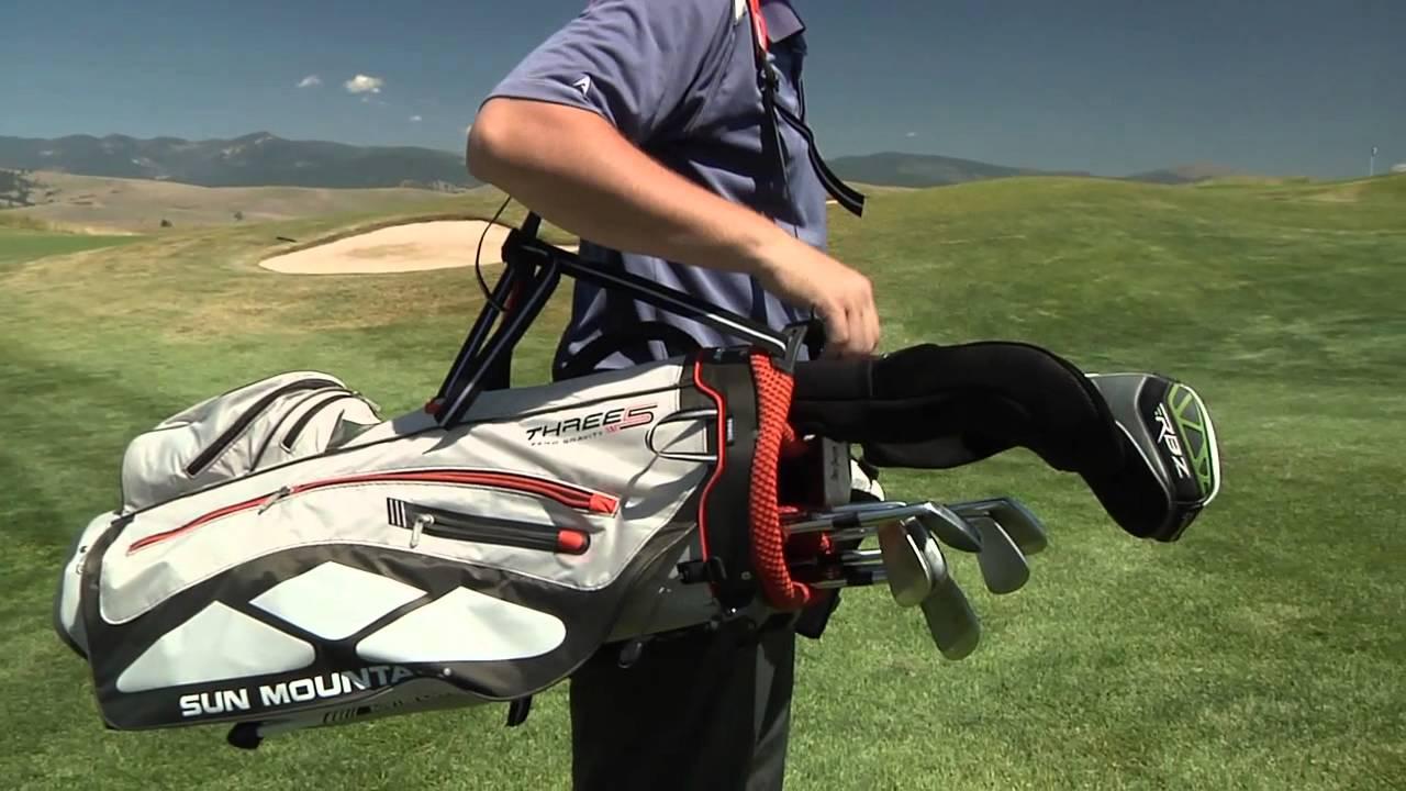 Sun Mountain Three 5 Zero G Golf Carry Bag Youtube