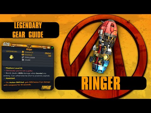 "Borderlands 3 ""Ringer"" Legendary Gear Guide! 