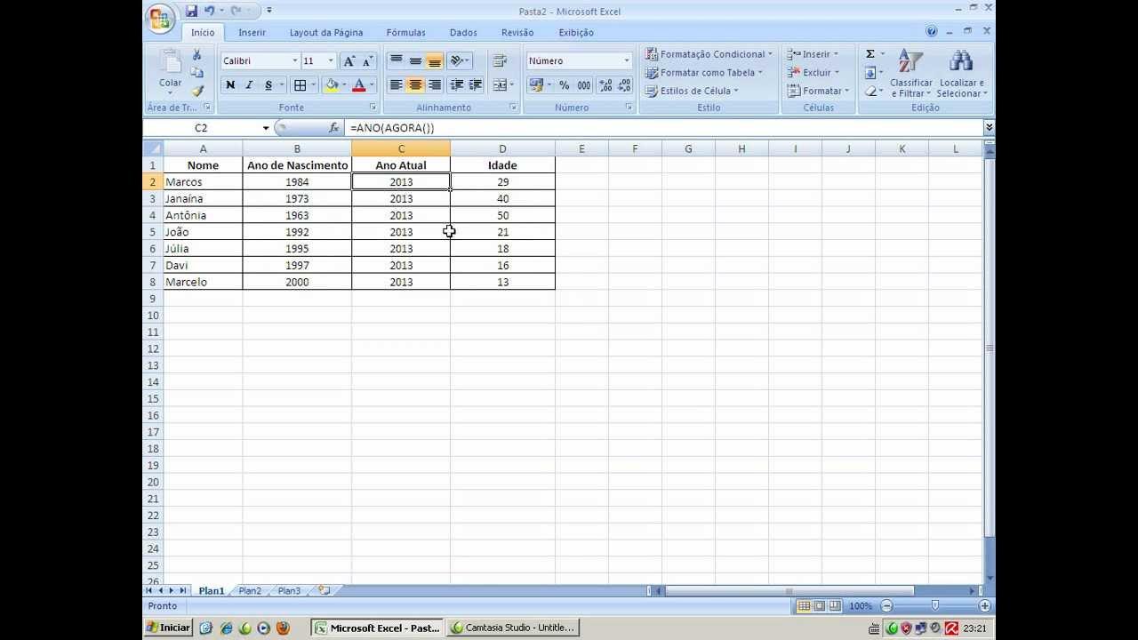 Planilha Excel   Trabalhando com a Fórmula de Subtração