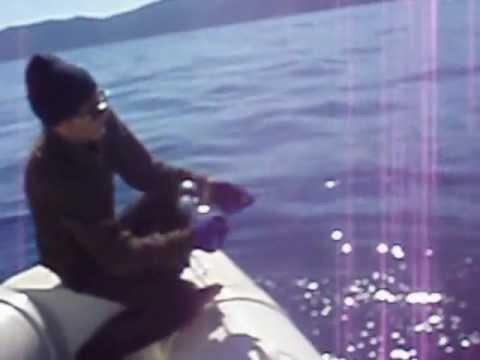 Vertical Jigging Amberjack.  DEEP Offshore -123 m Zenaq Jigging AJ