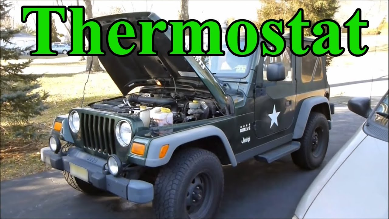 how to change the thermostat in a jeep wrangler [ 1280 x 720 Pixel ]