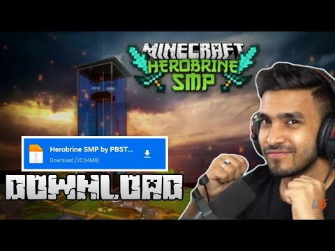 How to download Herobrine SMP(latest version) | crafting and building