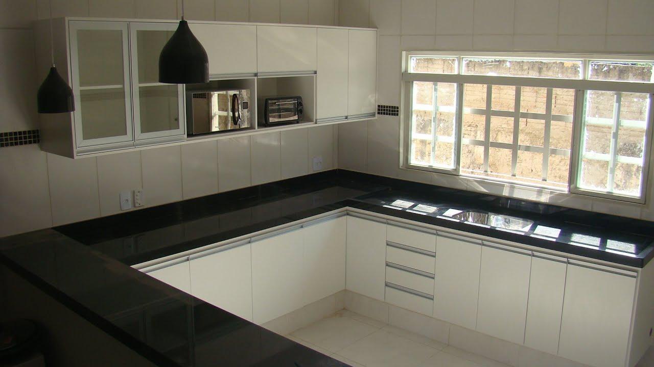 Armario Giratorio Cocina ~ Cozinha em L Branca YouTube