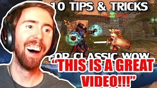 Asmongold Reacts To 10 Handy Tips & Tricks for Classic WoW - MadSeasonShow FT. ASMON MOM