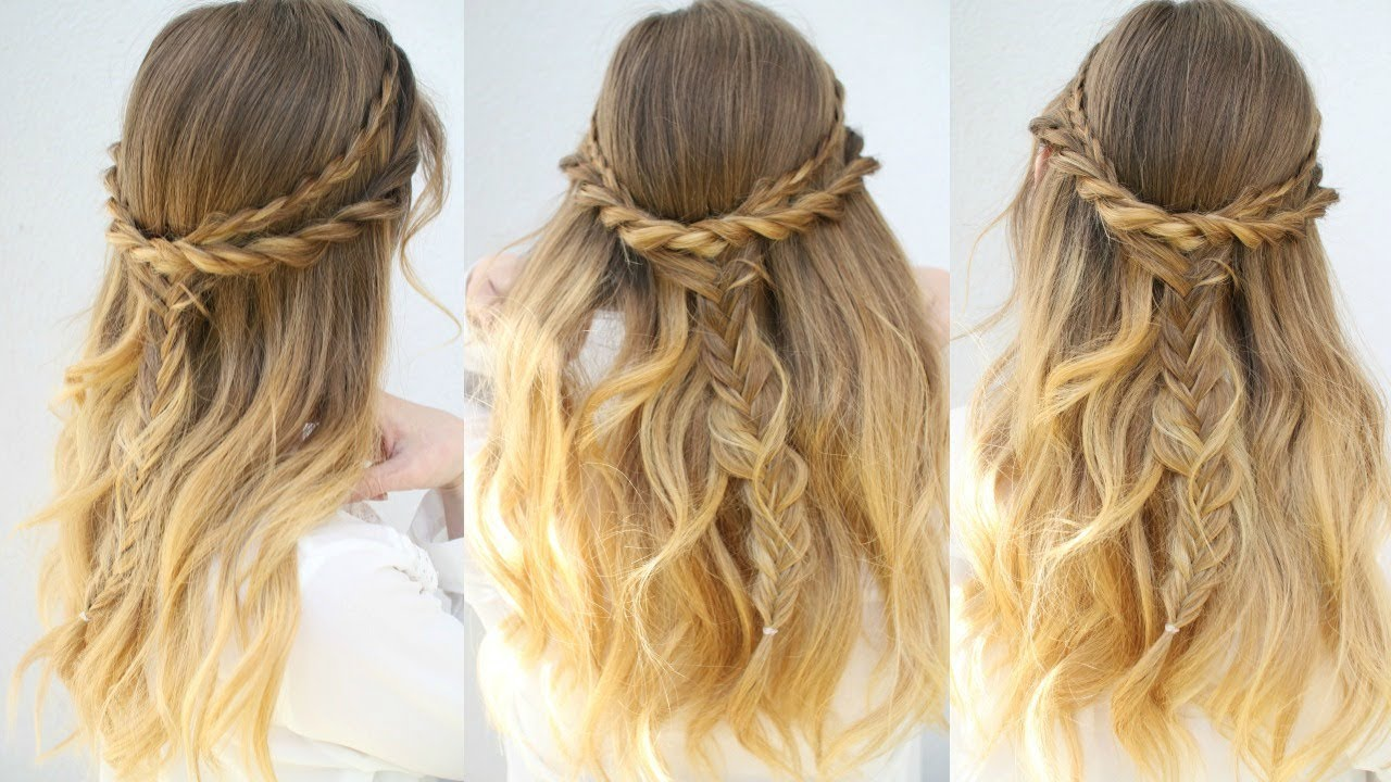 casual everyday half up hairstyle | half down hairstyles | braidsandstyles12
