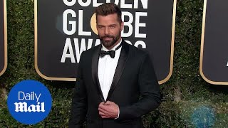 Ricky Martin is dashing in black tux at Golden Globe Awards