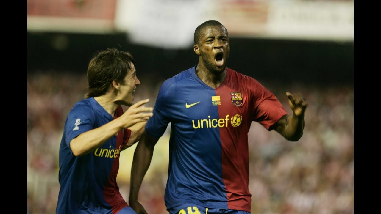 Image result for yaya toure barcelona