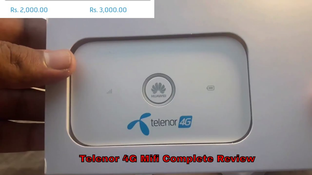 Telenor 4g Mifi Unboxing,Review and Speed Test