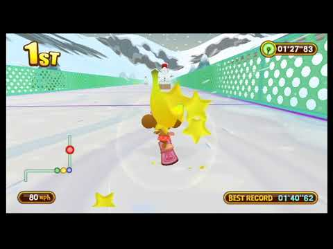 Super Monkey Ball Step And Roll Snowboard Sorbet Slope Races 1