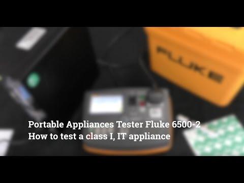 How To Test An IT Equipment  Fluke 6500-2 PAT Tester